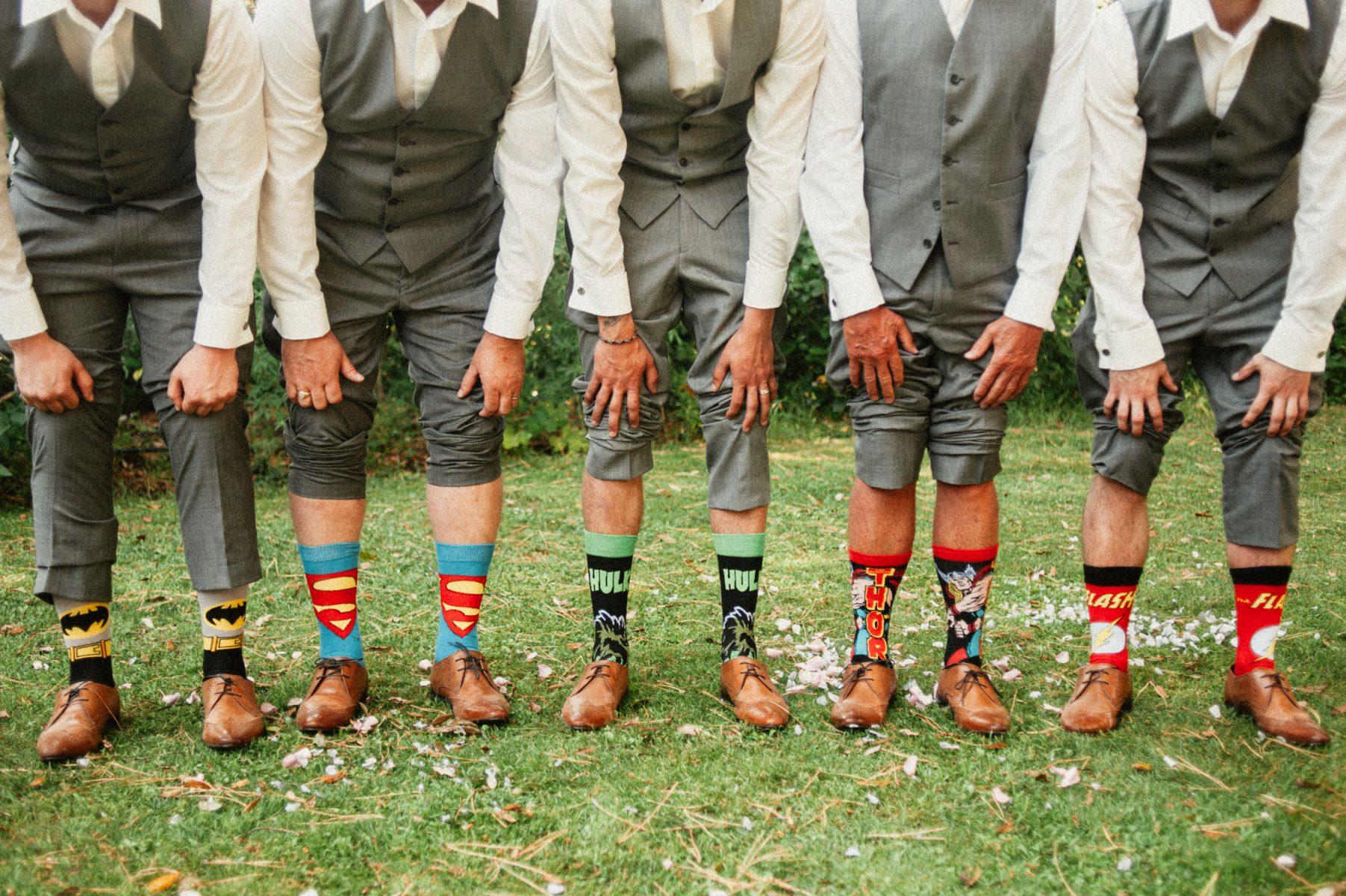 Groomsmen funny socks in Tuscany