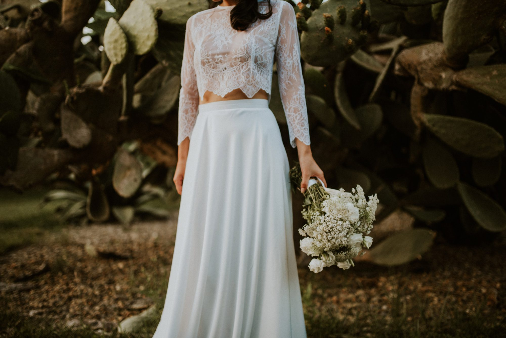 Lanvin Paris wedding dress in Puglia