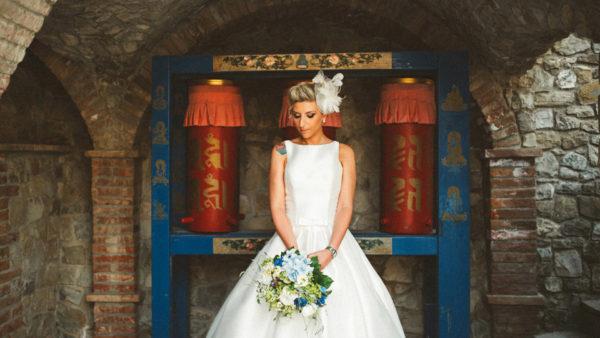Tibet bride portrait in Votigno